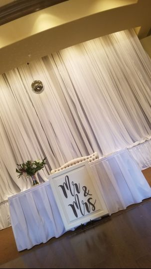 White sheer drape in Venue - Theatre