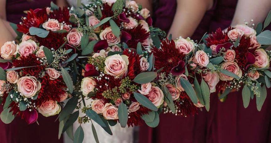 Burgundy/Dusty Rose