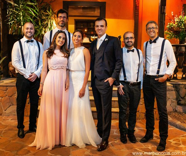 Grooms and the band