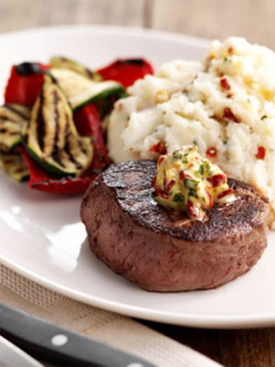 mediterranean steak with mash
