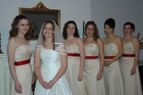 Here at Katherines wedding, you'll see bridal and bridesmaids wearing Jasmine.
