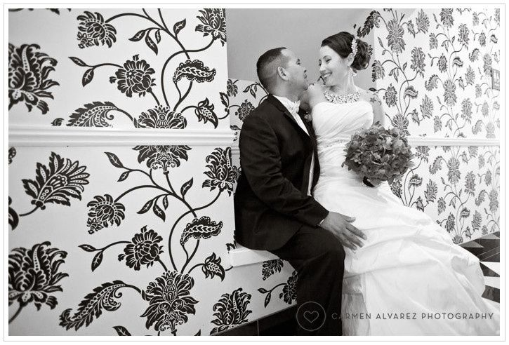 Bride sitting with her groom