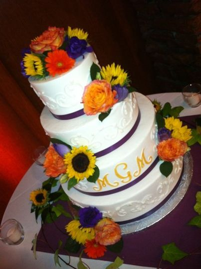 PurpleRibbonOrangeMonogramSuflowerScrollWeddingOct20126