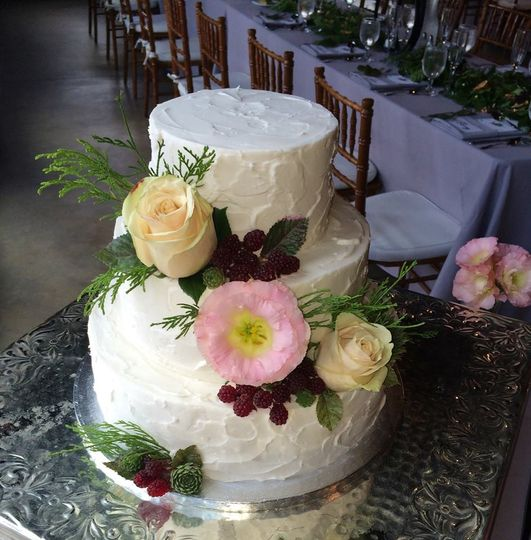 textured buttercream wedding cake quonquont farm o