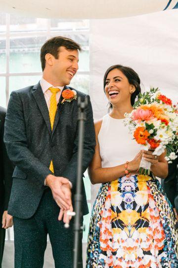 mel michael local flower wedding ceremony