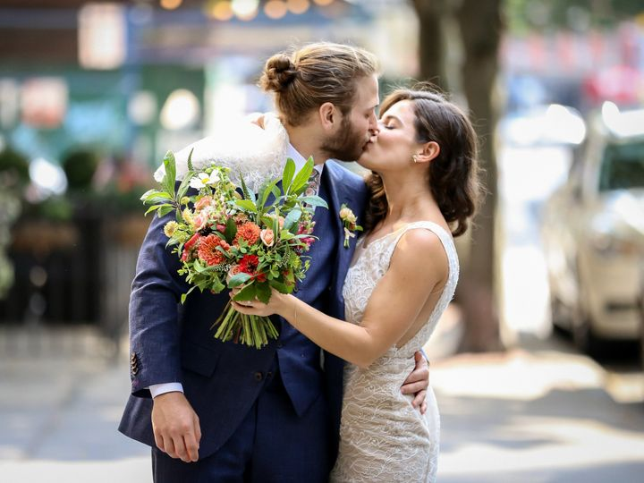Tmx Couple Kiss With Bouquet 51 780447 Brooklyn, NY wedding florist