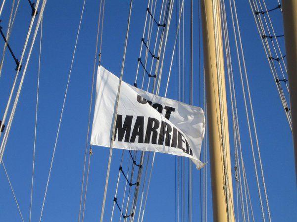 justmarriedflag