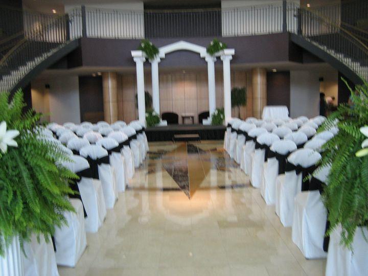 Indoor wedding area