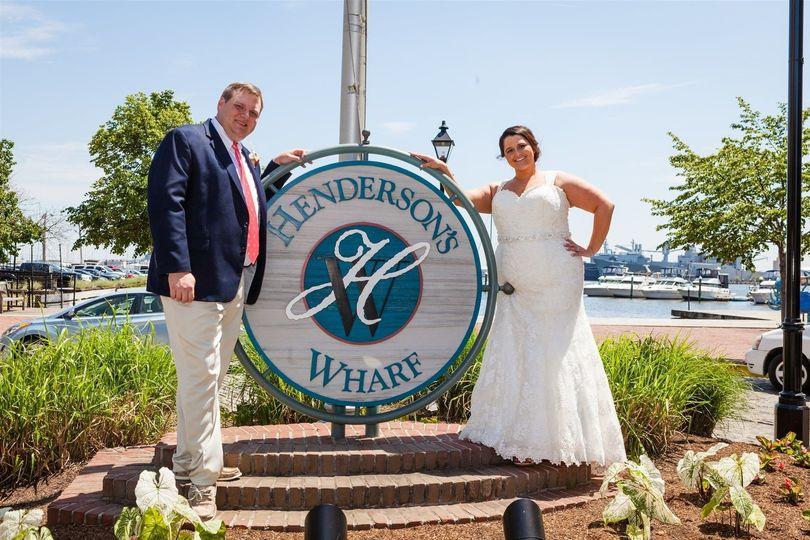 Couple at the  Inn at Henderson's Wharf