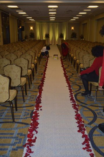 Setting up for ceremony