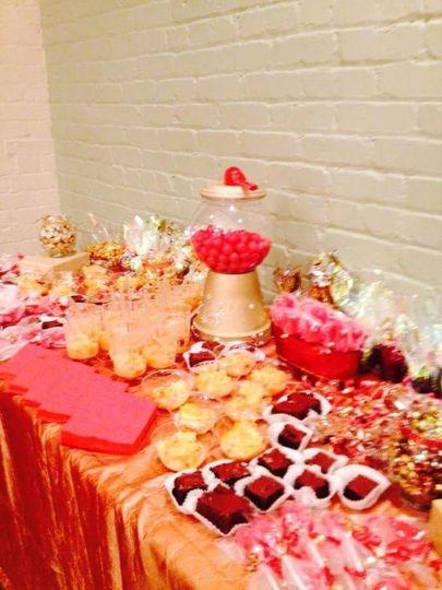 Bridal shower treat table