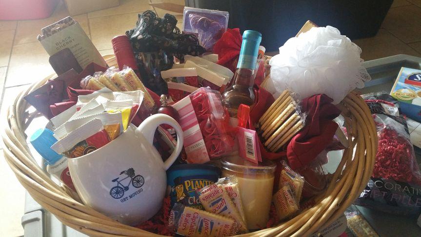 Honeymoon gift basket. Valued at $300