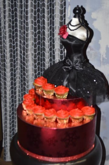 Cupcake stand for bachelorette party