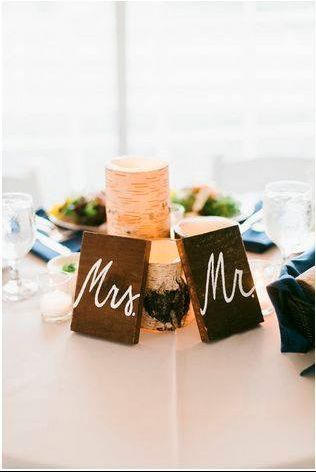 Mr and Mrs table label