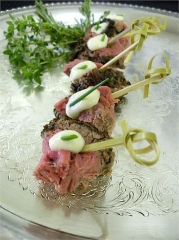 Sliced Beef Skewers