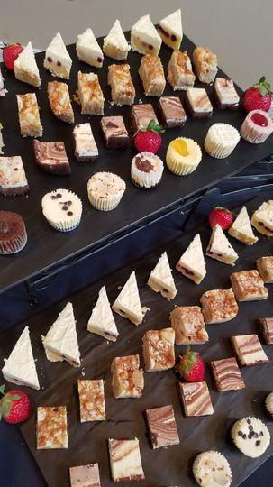 Displayed dessert bars