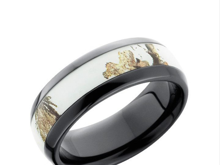 Tmx 1431830782777 Bz8hr11grtsnow Real Tree White Snow Camo Ring Winston Salem wedding jewelry