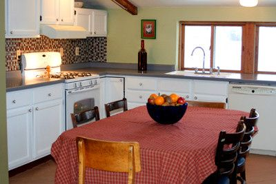 Kitchen inside the retreat.