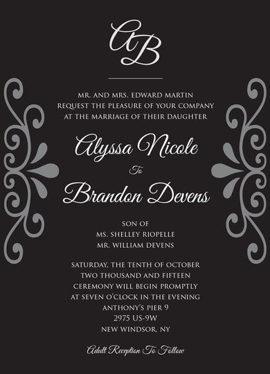 Alyssa & Brandon wedding invitations.