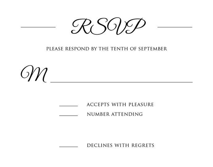RSVP Card.