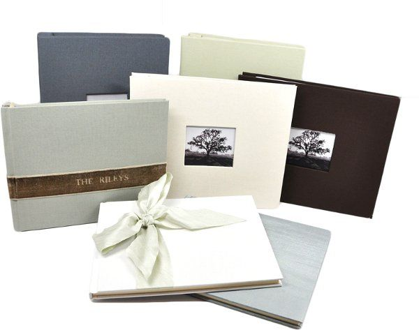 Personalized Wedding Guest Books - photo guest books, personalized, in many colors.