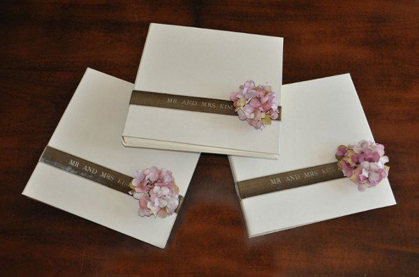 Custom Guest Books for Wedding - photo style, blank pages, can be personalized and in many color...