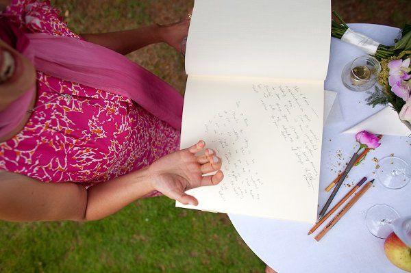 Guest book at wedding - bringing laughs