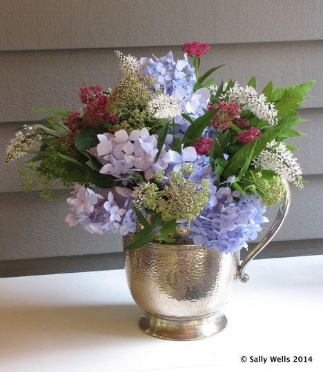 Summer flowers in vase