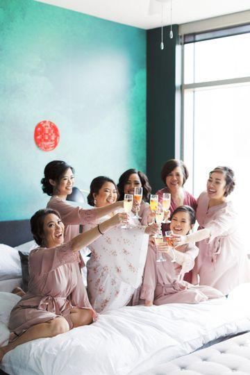 A bride & her girls