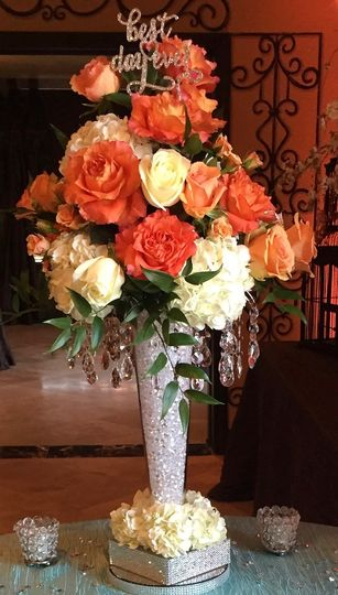 Floral bouquet at wedding