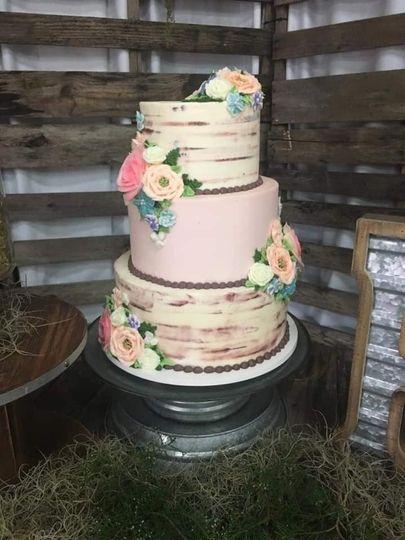 All buttercream wedding