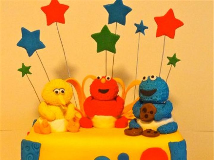 Tmx 1318460906954 BabySesameStreet Colonia wedding cake