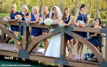 Photo courtesy of Snapped with Love Photography  Bride and Bridal Party makeup done by Makeup by...