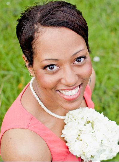 breonna with flowers