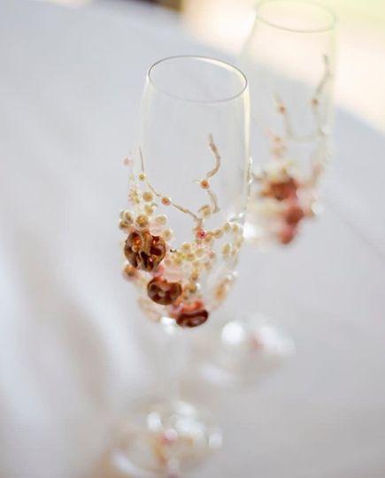 Handmade Champagne Flutes