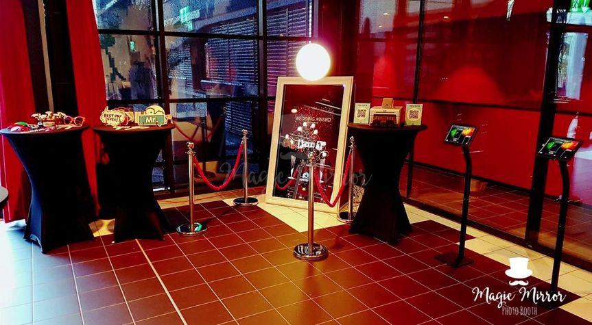 The photo booth setup