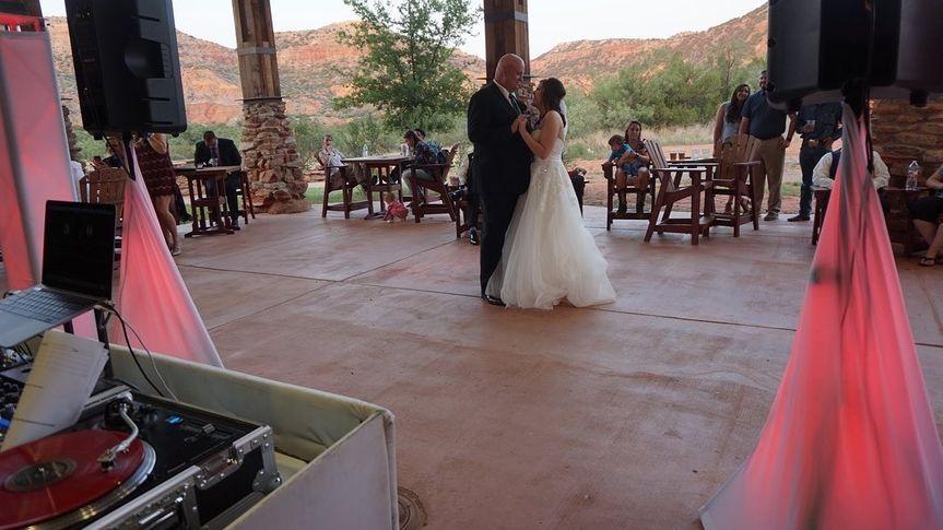 Dancing at outdoor reception