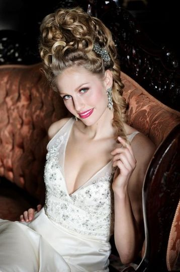 """Feature in St. Louis Bride Magazine, the """"Marie Antoinette"""" look"""