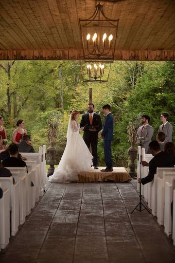 Saying their vows