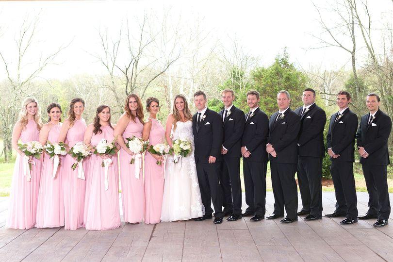 Bridal party at Sage Creek