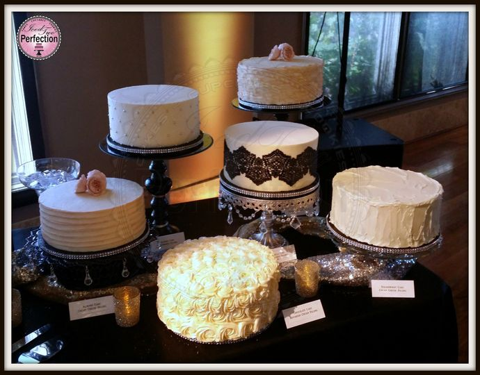 Six different cakes. Six different flavors. One wedding.