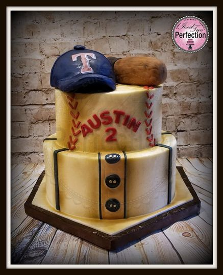 While this vintage baseball themed cake was for a 2 year old, it could easily be used for a groom's...