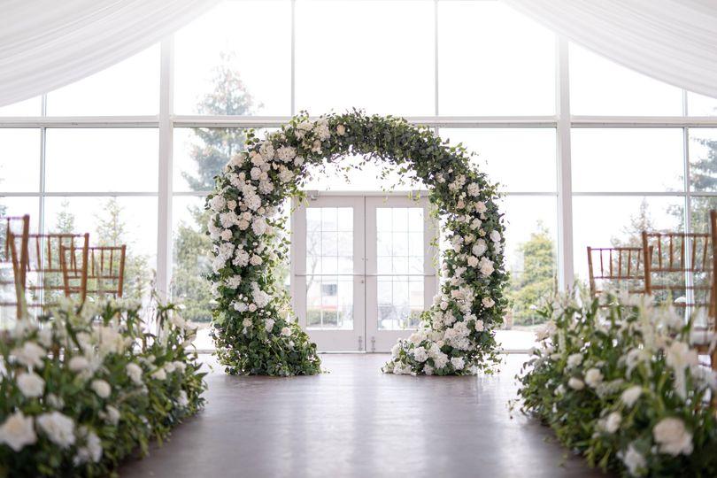 The Garden Arch & aisle flower