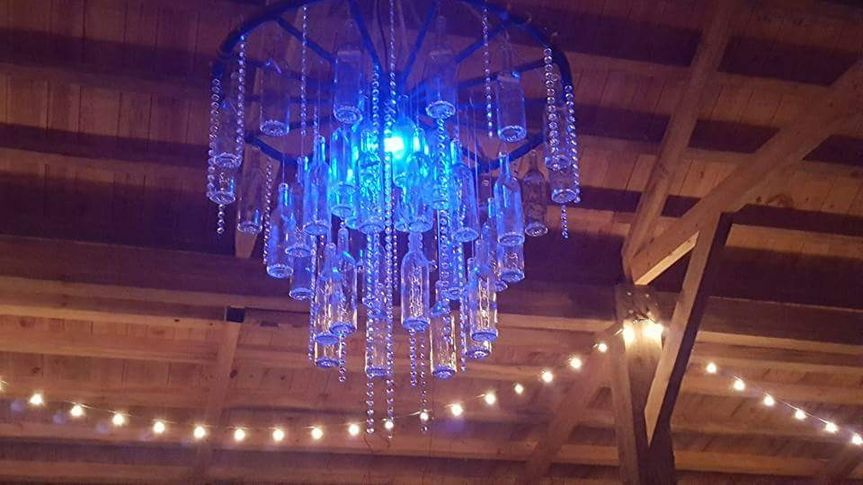 Chandelier in Blue