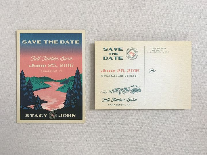 Tmx 1484265622434 Stacy And John Std Philadelphia, Pennsylvania wedding invitation