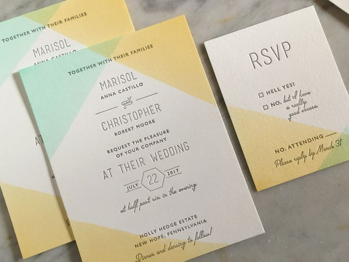 Tmx Marisol1 Warp 51 921547 1557421199 Philadelphia, Pennsylvania wedding invitation