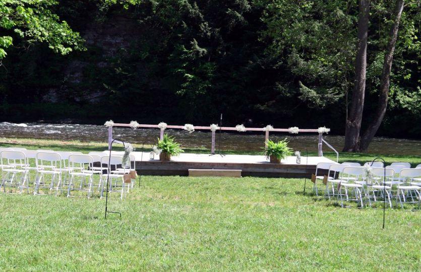 Creek side ceremony