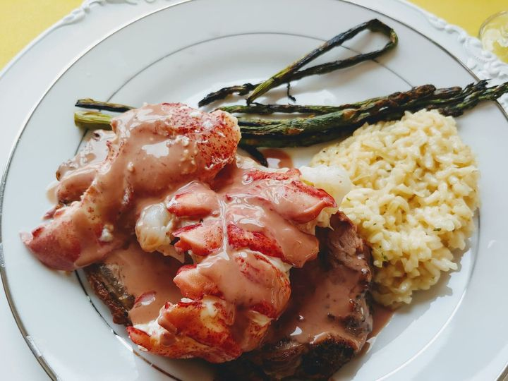 Tmx Lobster Over Prime Rib With Risotto And Awesome Sauce 51 1951547 159527643322716 Billerica, MA wedding venue