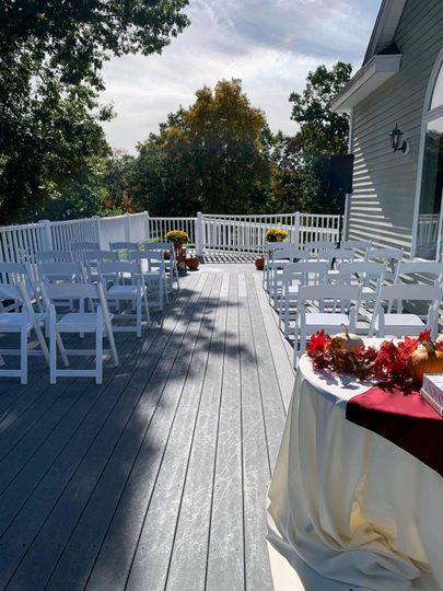 Ceremony on the Outdoor Deck