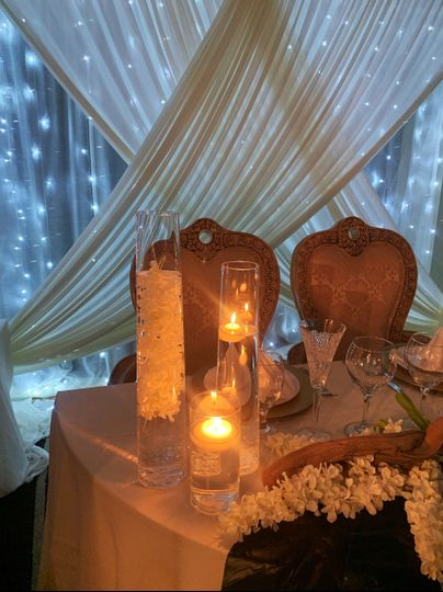Romantic starlight table